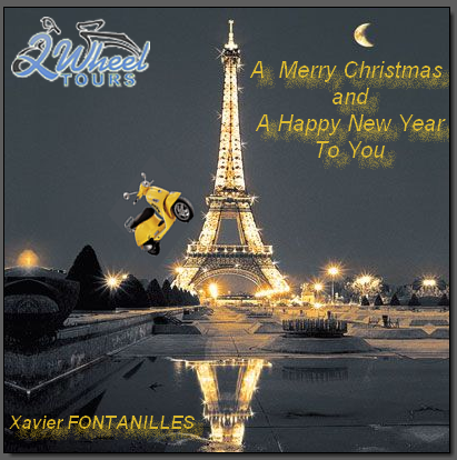 paris by scooter wish you a merry christmas and a happy new year