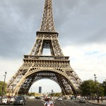 Riding in front of the Eiffel Tower