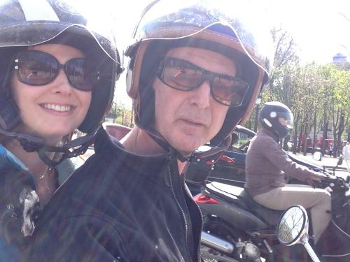 on the bike in paris