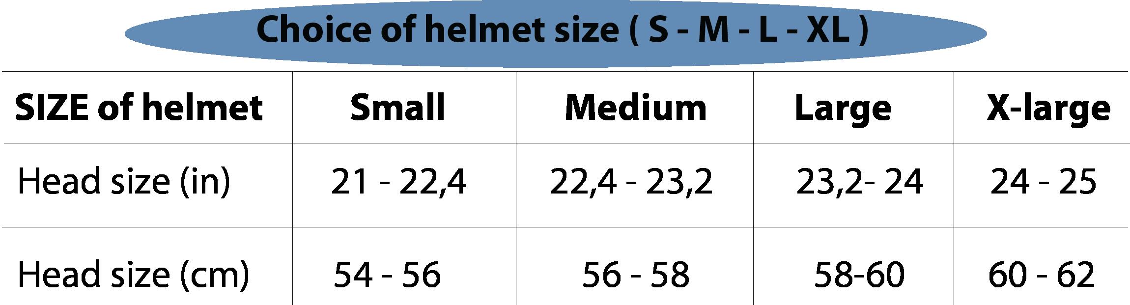 helmet Head size Vespa