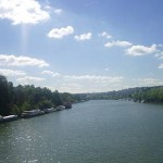 Paris to Versailles : the beautiful river surrounded by the countryside.