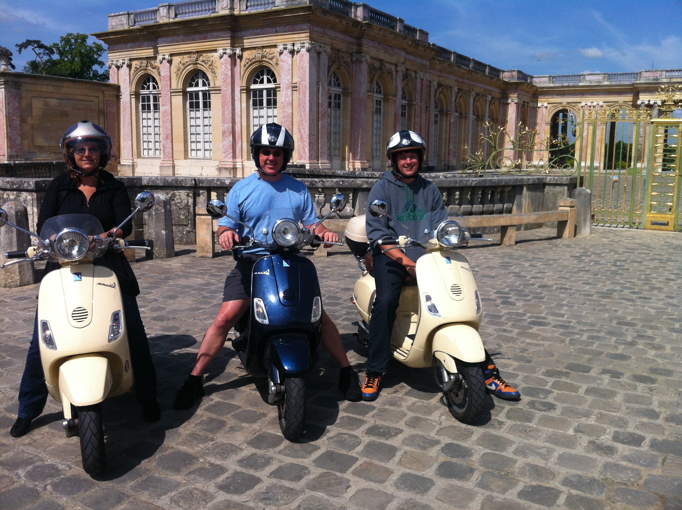 picture of Versailles Palace grand trianon by Vespa scooter