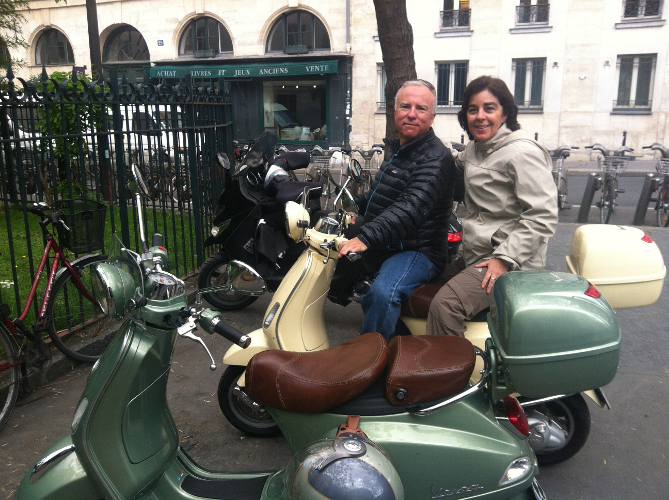 Vespa scooter tour of Paris