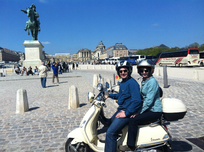 Versailles by scooter